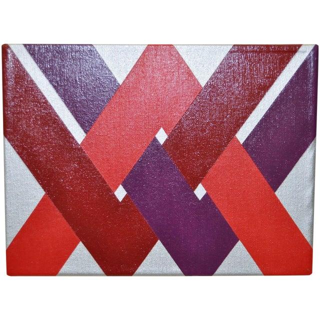 1970 Charles Hersey Vintage Op Art Painting - Image 1 of 6