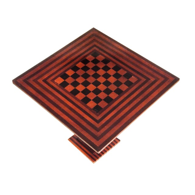 Checkered Tilt Top Table - Image 4 of 7
