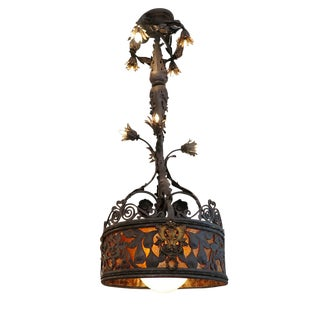 Early 20th Century Barcelona Style Chandelier