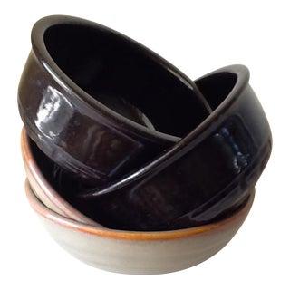 Stoneware Pottery Bowls - Set of 4