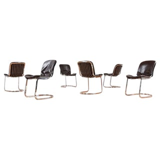 Vintage Cidue Italian Chrome & Leather Chairs - 6