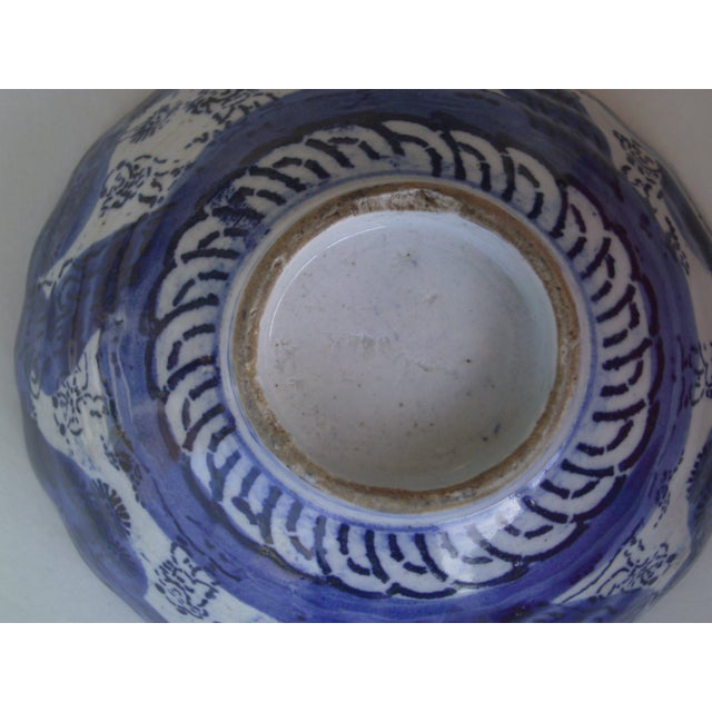 19th Century Blue & White Oriental Bowl - Image 9 of 9