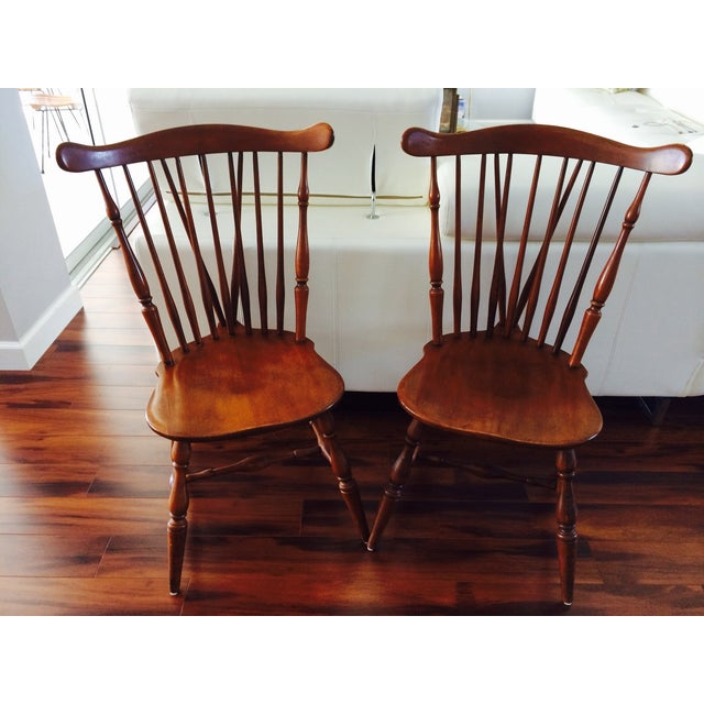 Heywood Wakefield American Braceback Chairs - Pair - Image 2 of 8
