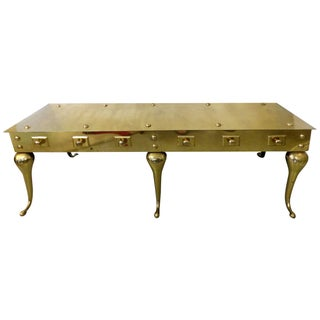 Sarreid Mid-Century Old English Brass Coffee Table