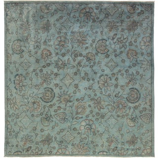 "Vibrance Over Dyed Hand Knotted Area Rug - 8'0"" X 8'3"""