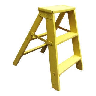 Yellow Painted Step Ladder