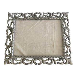 Metal Artisan Scroll Motif Frame