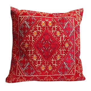 """Swati Embroidered Pillow Handcrafted in Pakistan - 24"""" X 24'"""