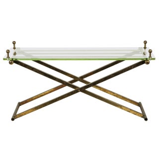 Brass & Glass Tray Coffee Table