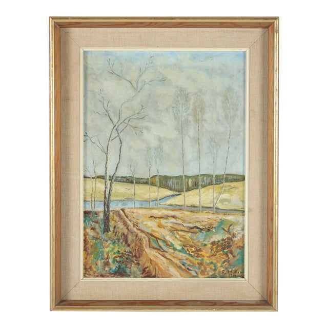 1938 Painting 'Where Two Streams Meet' - Image 1 of 3