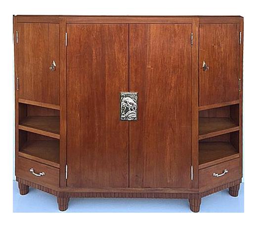 art deco furniture miami. 1925 teak french art deco cabinet furniture miami