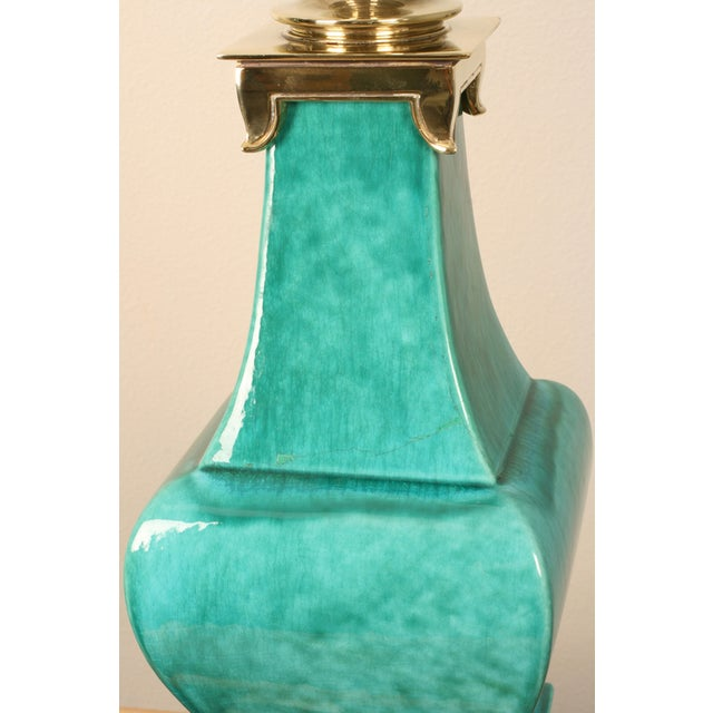 Image of Stiffel Porcelain and Brass Lamps - A Pair