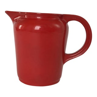 Vintage 1940s Universal Cambridge Red Quart Pitcher