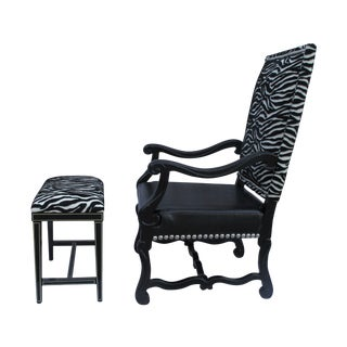 Spanish Revival Hollywood Glam Chair Set