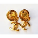 Image of Chanel Classic Pearl & Gold CC Dangle Earrings