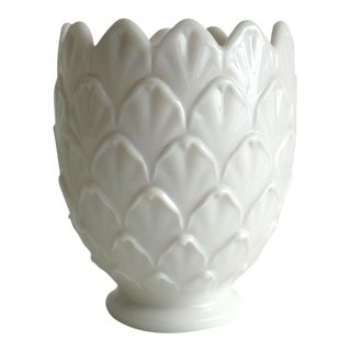 Pale Pink Milkglass Vase