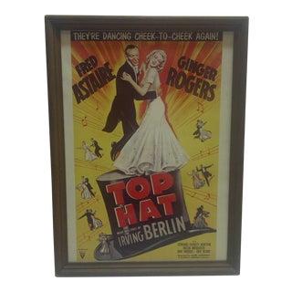 """Vintage """"Top Hat"""" Movie Poster"""