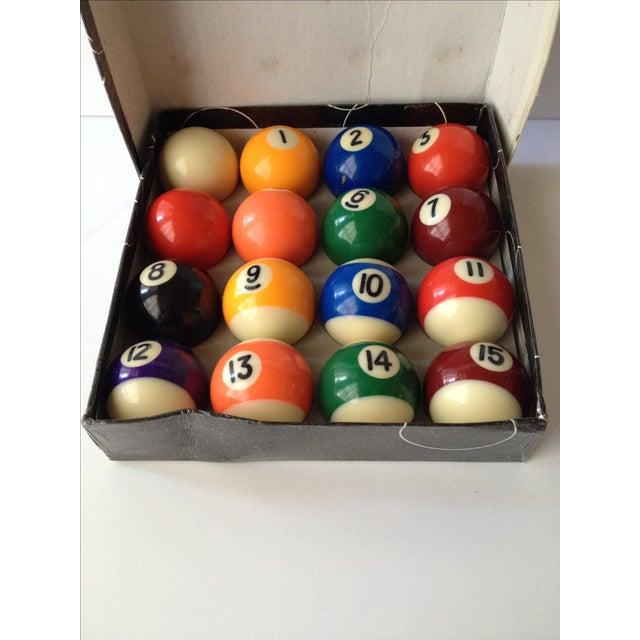 mini pool balls set of 12 chairish. Black Bedroom Furniture Sets. Home Design Ideas