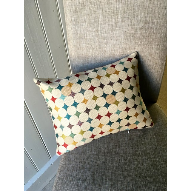 Image of Colorful Geometric Print Pillow