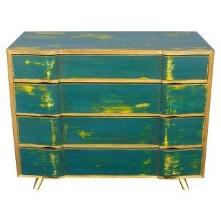 Vintage Turquoise Distressed Dresser