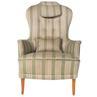 1960s Swedish Carl Malmsten 'Farmor' Lounge Chair