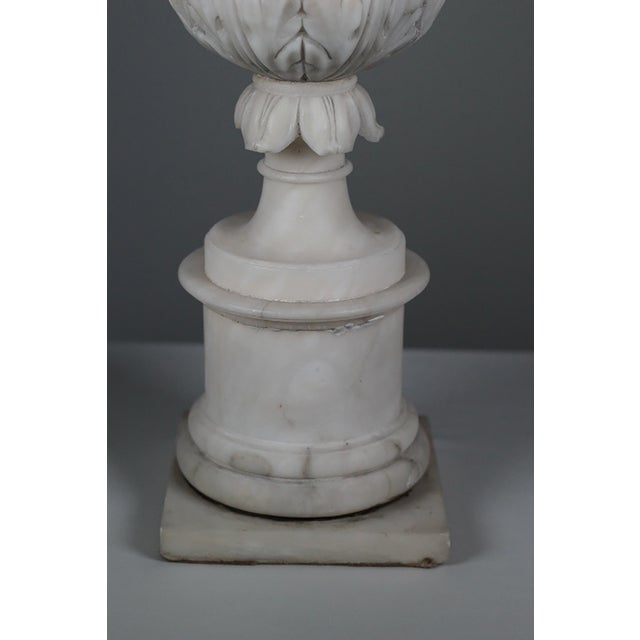 Early 20th C Hand Carved Italian Alabaster Vase - Image 3 of 10