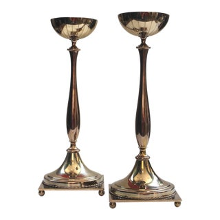 Ystad Metall Neoclassical Candlesticks by Gunnar Ander - A Pair