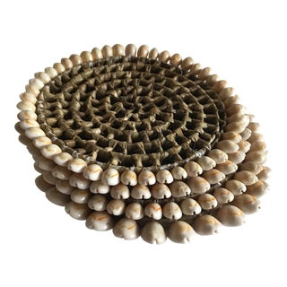 Boho Beach House Seashell Trivets - Set of 4