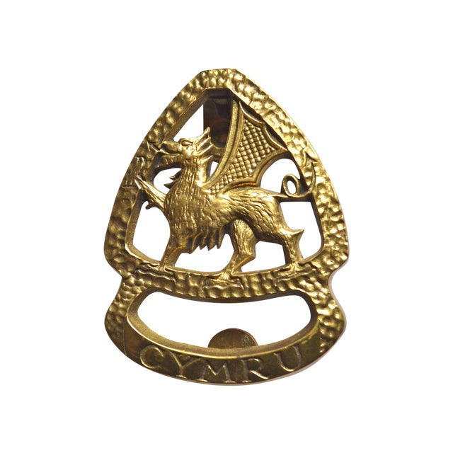 Wales dragon door knocker chairish - Dragon door knockers for sale ...