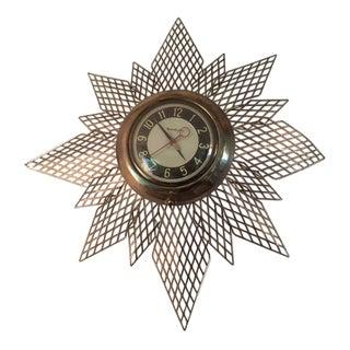 Vintage Mid-Century Sunburst Clock