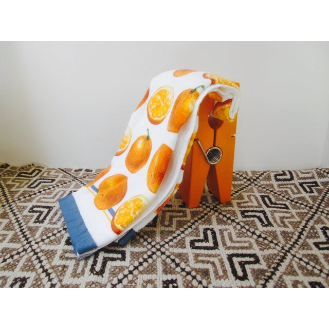 Oversize Pop Art Orange Wooden Clothes Pin - Image 7 of 7