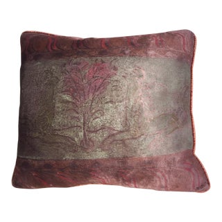 Fortuny Silk Velvet Pillow