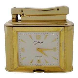 Vintage Colibri Clock Lighter