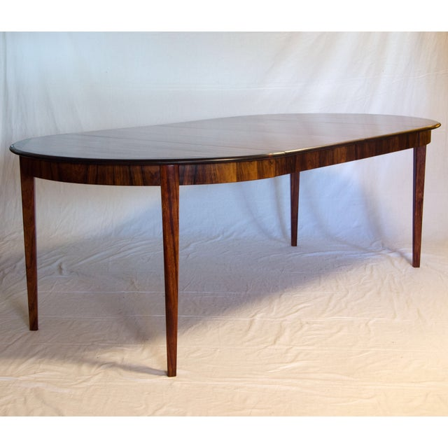 Image of Danish Round Rosewood Dining Table by Moller