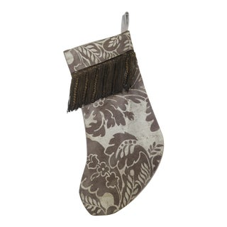 Custom Christmas Stocking W/ Floral Stencil Design