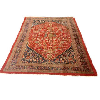 Antique Persian Rug Tabriz Rug - 8′12″ × 11′10″
