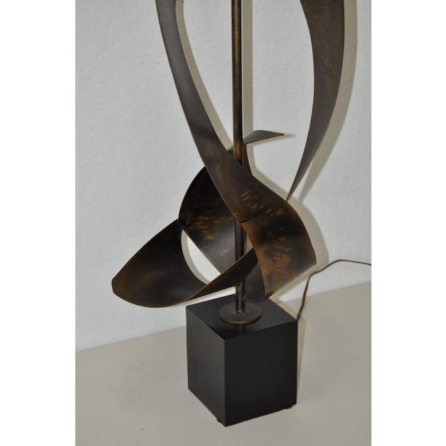 C.1960s Harry Balmer Sculptural Steel & Bronze Lamp - Image 7 of 9