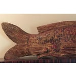Image of Hand Carved Brown And Red Fish