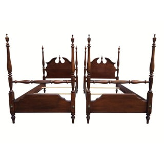 Lexington Furniture Georgian Style Twin Beds - Pair