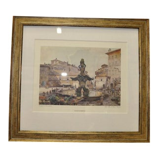 After Piazza Barbarini Print