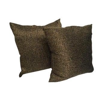 Custom Made Textured Pattern Pillows - A Pair