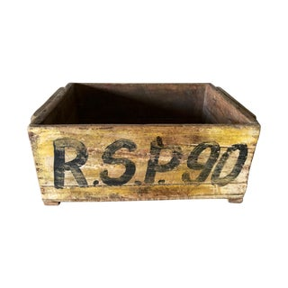 Vintage Wood Industrial Box