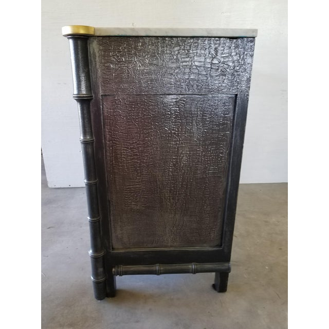 Vintage French Faux Bamboo Chest - Image 4 of 9