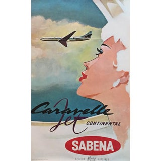 Vintage Travel Poster, Romantic Sabena