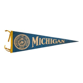 University of Michigan Felt Flag