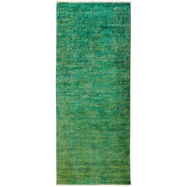 """New Overdyed Hand Knotted Runner - 3'1"""" x 7'10"""" - Image 1 of 3"""
