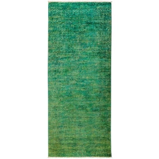 "New Overdyed Hand Knotted Runner - 3'1"" x 7'10"""