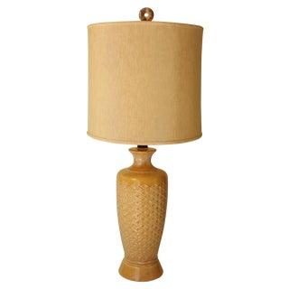 Crosshatch Ceramic Table Lamp
