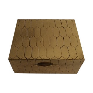 Honeycomb Pattern Brass Box