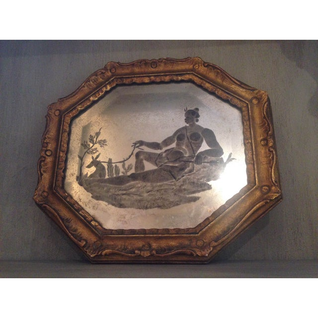 Image of 18th C. Reverse Mirror Venetian Etching